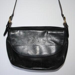 Vintage black leather Coach purse